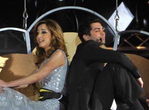 Basma Bouseil and Mohamad Bash at Star Academy Fourth Prime