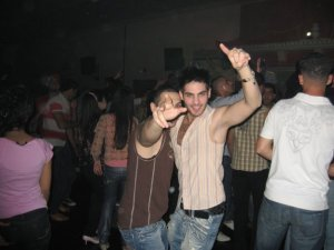 Yahia Sweis dancing at a party before star academy