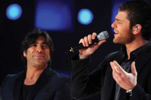 Wael Kfouri and Michel Azzi at Star Academy Fifth Prime pictures and photogallery