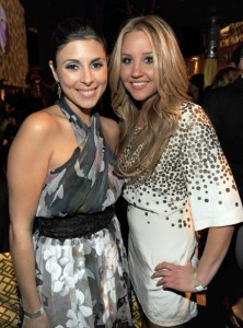 Jamie Lynn Sigler and Amanda Bynes attend the Official HBO After Party for the 66th Annual Golden Globe Awards at Circa 55 Restaurant at The Beverly Hilton Hotel on January 11th 2009 in Beverly Hills California