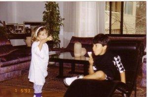 Lara Scandar when she was a child