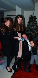 Lara Scandar christmas tree party picture