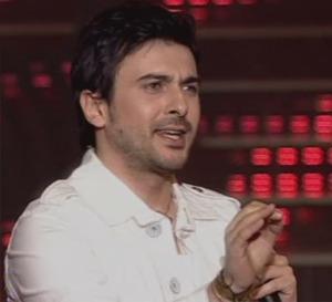 on star academy season6 sixth prime Gokhan Tepe on stage