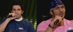 on star academy season6 sixth prime Michel Rmeih and Nasser singng together Yaba Yaba Lah