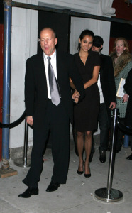 Emma Heming and Bruce Willis leaving Socialista after celebrating Ashton Kutcher 30th birthday party on February 7th 2008
