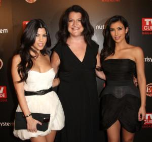 Kim Kardashian and Kourtney Kardashian attend the TV Guide sexiest stars party