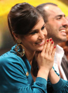 Picture of Elissar Caracalla the teacher of dancing lessons at the Sixth Prime of LBC Star Academy season six on March 27th 2009