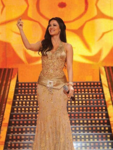 Diana Hadad picture singing live at the Sixth Prime of LBC Star Academy season six on March 27th 2009