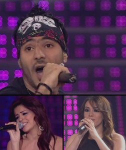 seventh prime of lbc star academy 2009 season 6 on April 3rd 2009 Nasser with diala and Aya