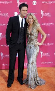 Julianne Hough with Chuck Wicks arrive at the 44th annual country music awards on April 5th 2009