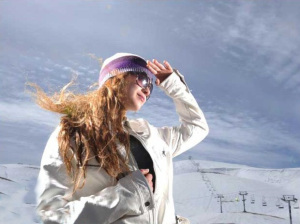 new pictures of the students in star academy season 6 skiing photo shoots on March 2009 Khawla