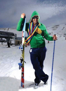 new pictures of the students in star academy season 6 skiing photo shoots on March 2009 Ibrahim Dashti