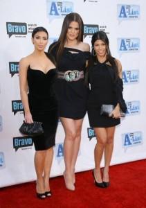 Kim Kardashian with Kourtney Kardashian and Khloe Kardashian arrive at Bravo's 2nd Annual A List Awards on the 5th of April 2009 3
