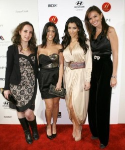 Kim Kardashian and Kourtney Kardashian attend the Night at Haven event hosted by Stardust Pictures and Jamie Kennedy on February 19th 2009 10