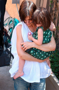 Katie Holmes and baby Suri Cruise as they enter the Scientology Center in Los Feliz on March 31st 2009 2