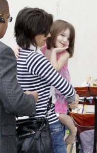 Katie Holmes and baby Suri Cruise leaving a dance school on April 2nd 2009 4