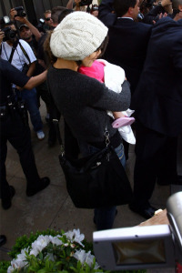 Katie Holmes and baby Suri Cruise spotted at The Grove in Los Angeles on April 1st 2009 4