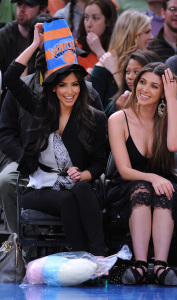 Kim Kardashian and Brittny Gastineau attend Detroit Pistons vs New York Knicks game at Madison Square Garden on April 8th 2009 in New York City 6