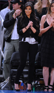 Kim Kardashian and Brittny Gastineau attend Detroit Pistons vs New York Knicks game at Madison Square Garden on April 8th 2009 in New York City 4