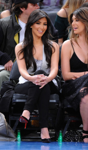 Kim Kardashian and Brittny Gastineau attend Detroit Pistons vs New York Knicks game at Madison Square Garden on April 8th 2009 in New York City 3