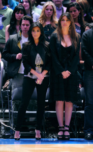 Kim Kardashian and Brittny Gastineau attend Detroit Pistons vs New York Knicks game at Madison Square Garden on April 8th 2009 in New York City 5