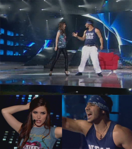 Nasser and Lara sing womanizer at the 8th prime of star academy season 6