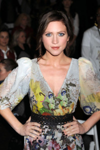 Brittany Snow at the Mercedes Benz Fashion Week Fall 2009 show by Erin Fetherston on February 15th 2009 2