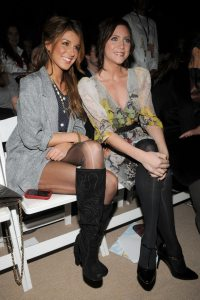 Brittany Snow and Shenae Grimes at the Mercedes Benz Fashion Week Fall 2009 show by Erin Fetherston on February 15th 2009