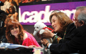 Madam Rola with Madam Mary and the little puppy Pixy at Star Academy Eighth Prime on April 10th 2009