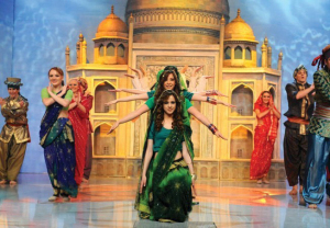 Khawla and Tania during an Indian Tableu of the students dancing at Star Academy Eighth Prime on April 10th 2009