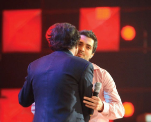 Mohamed Bash and and Julio Iglesias at Star Academy Eighth Prime on April 10th 2009