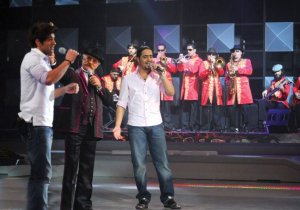 Toni Hanna with Ibrahim and Abdul Aziz at Star Academy Eighth Prime on April 10th 2009