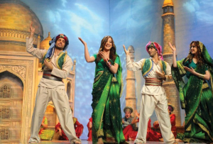 An Indian Tableau of Nasser, Khawla, Tania and Mohamed Bash at Star Academy Eighth Prime on April 10th 2009