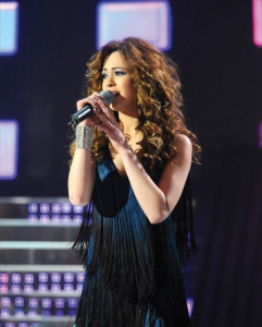 Khawla singing at Star Academy Eighth Prime on April 10th 2009