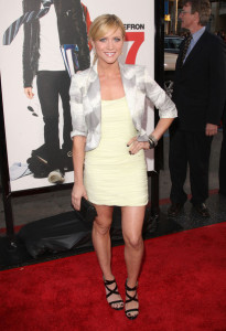 Brittany Snow arrives at the movie premiere of 17 Again on April 14, 2009