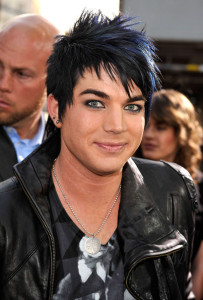Adam Lambert arrives at the movie premiere of 17 Again on April 14, 2009