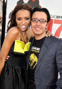 Katerina Graham and Efren Ramirez at the movie premiere of 17 Again on April 14, 2009