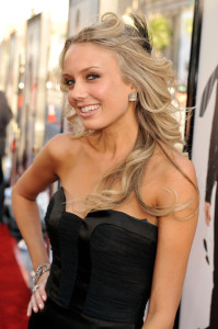 Melissa Ordway at the movie premiere of 17 Again on April 14, 2009