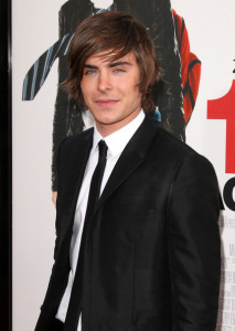 Zac Efron at the movie premiere of 17 Again on April 14, 2009