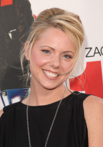 Colette Wolfe arrives at the movie premiere of 17 Again on April 14, 2009