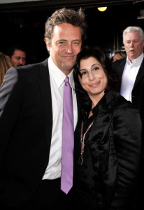 Matthew Perry and Sue Kroll arrive at the movie premiere of 17 Again on April 14, 2009
