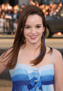 Danielle Panabaker arrives at the movie premiere of 17 Again on April 14, 2009