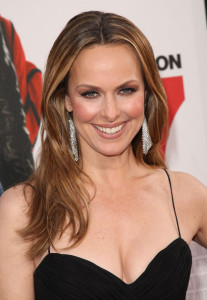 Melora Hardin arrives at the movie premiere of 17 Again on April 14, 2009