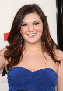 Courtney Fleming arrives at the movie premiere of 17 Again on April 14, 2009