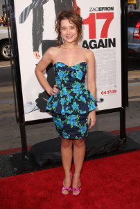 Olesya Rulin arrives at the movie premiere of 17 Again on April 14, 2009