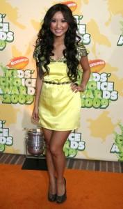 Brenda Song arrives at Nickelodeon's 2009 Kids Choice Awards