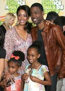 Chris Rock with Malaak Compton and kids at Nickelodeon's 2009 Kids Choice Awards