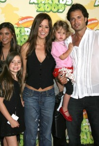 David Charvet with Brooke Burke and their kids at Nickelodeon's 2009 Kids Choice Awards