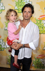 David Charvet and his daughter at Nickelodeon's 2009 Kids Choice Awards