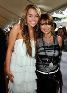 Paula Abdul and Miley Cyrus at Nickelodeon's 2009 Kids Choice Awards